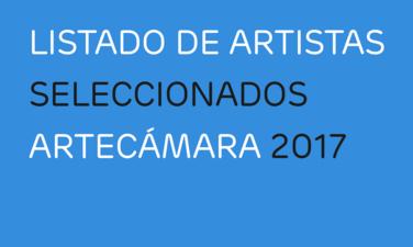 Seleccionados Artecámara 2017